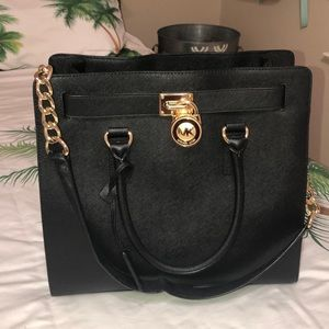 MK Michael Kors Hamilton Lock and Key Purse